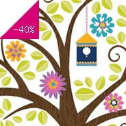 Sticker Wall art kit large -hoot & hang out tree wp