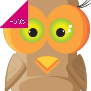 Sticker hibou carr�