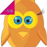 Sticker hibou rond