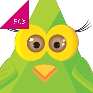 Sticker hibou triangulaire