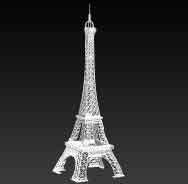 OBJET-3D TOUR EIFFEL GRAND blanc