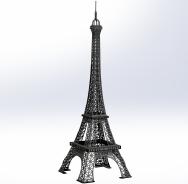 OBJET-3D TOUR EIFFEL GRAND noir