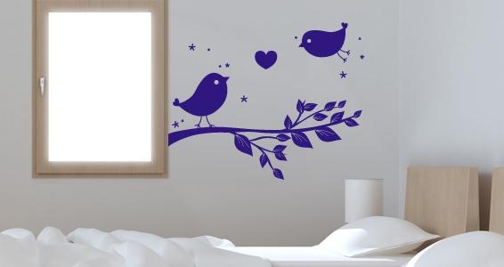 sticker Deux oiseaux