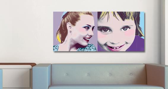 Pop art duo pour 82€
