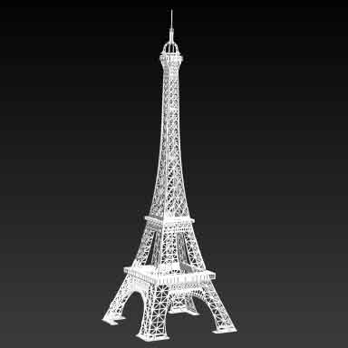 sticker OBJET-3D TOUR EIFFEL GRAND blanc