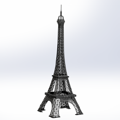 sticker OBJET-3D TOUR EIFFEL PETIT noir
