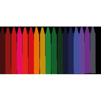 sticker Frise de crayons