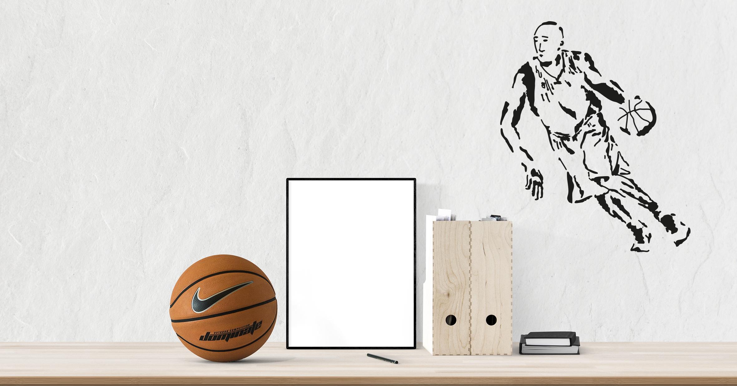sticker Joueur de basket