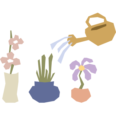 sticker Arrosoir et fleurs