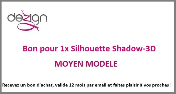 sticker BON ACHAT POUR SILHOUETTE SHADOW-3D MOYEN MODELE
