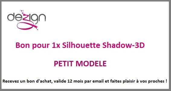 sticker BON ACHAT POUR SILHOUETTE SHADOW-3D PETIT MODELE