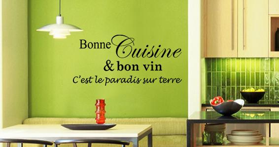 sticker cusine et bon vins