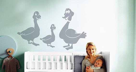 sticker famille canard