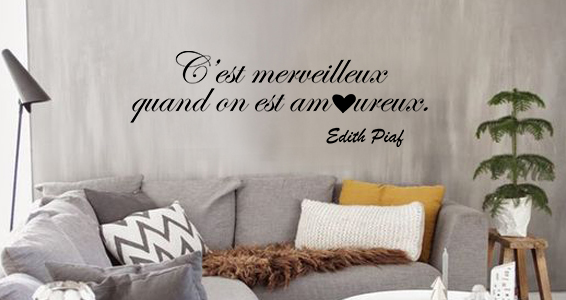 sticker Citation edith piaf