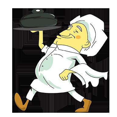 sticker au service chef