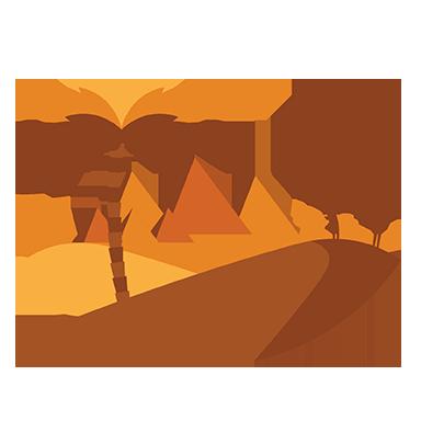 sticker désert sahara