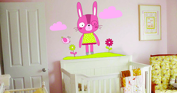 sticker Lapin fille