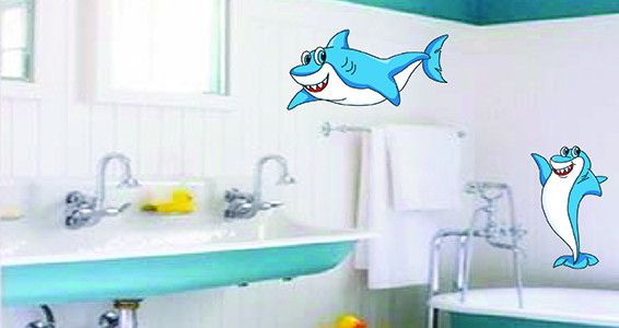 sticker Redoutable requins