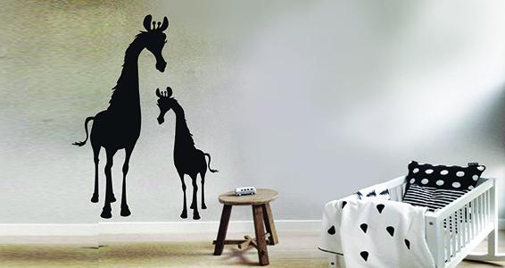 sticker Famille de girafe