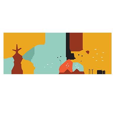sticker Animaux dans la forêt