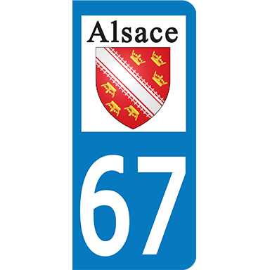 sticker Département 67