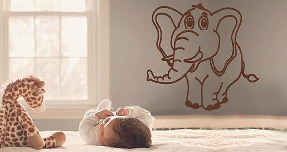 sticker éléphant craquant