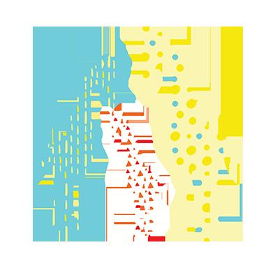 sticker famille girafe