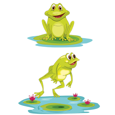 sticker couple de grenouille