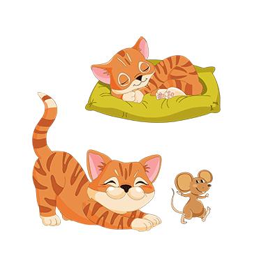 sticker chats et souris