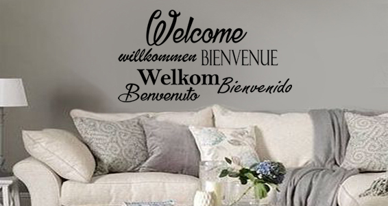 sticker bienvenue