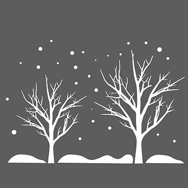 sticker arbres et flocons