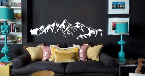 sticker montagnes enneigées