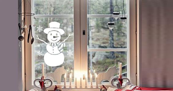 sticker bonhomme de neige rigolo