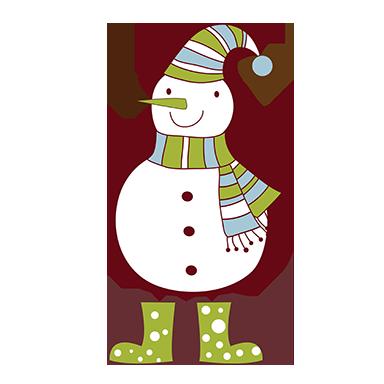 sticker bonhomme de neige amusant