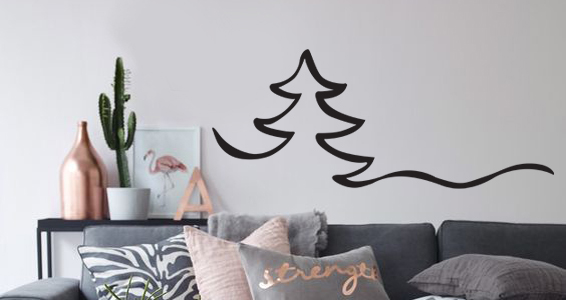 sticker silhouette arbre