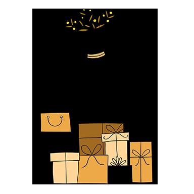 sticker cadeaux de noel