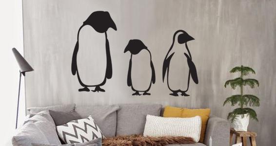 sticker pingouins de noel