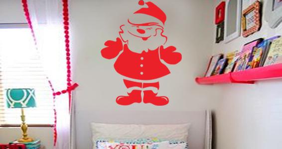 sticker red santa claus
