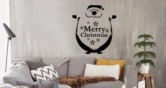 sticker noel merry christmas