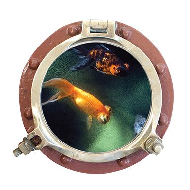 sticker Trompe l&#39oeil vue sur l&#39ocean