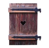 sticker trompe l&#39oeil volet en bois vieilli