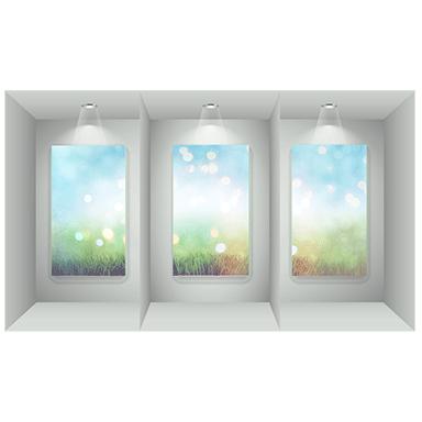sticker triptyque de fenêtres