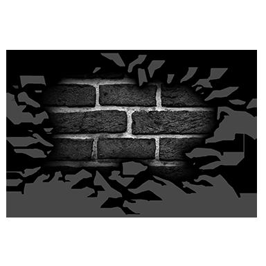 sticker mur craquelé