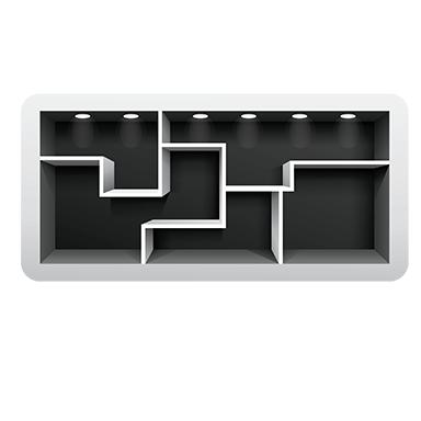 sticker etageres metal design