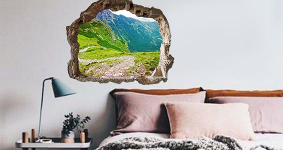 trompe loeil vue montagne