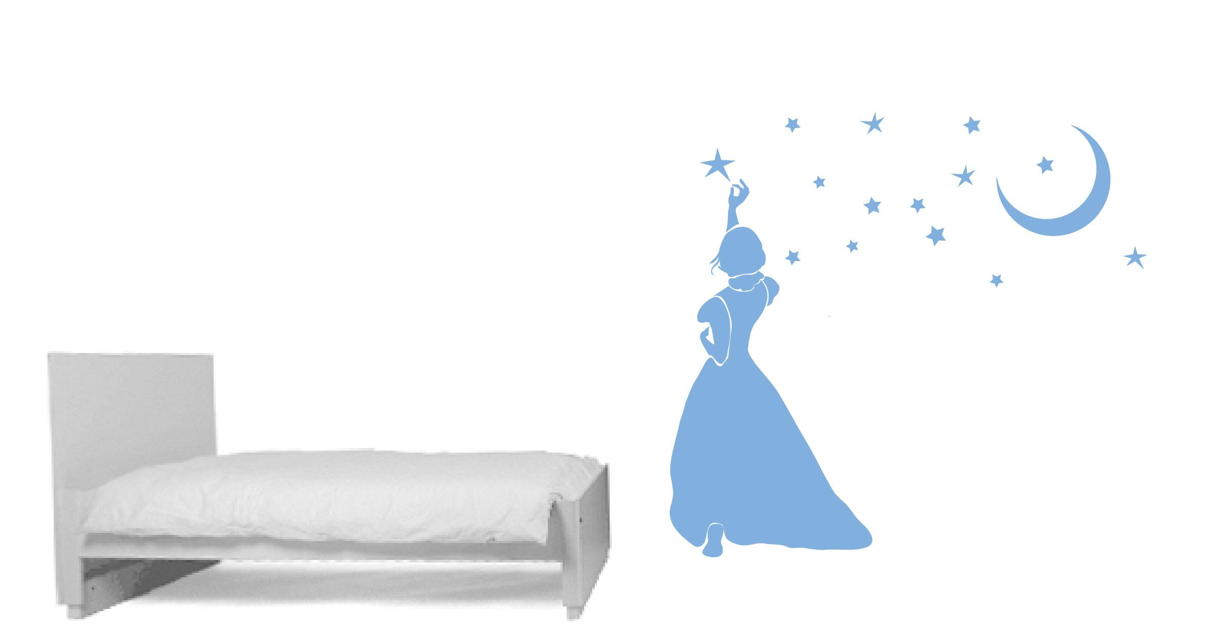 sticker Princesse et étoiles