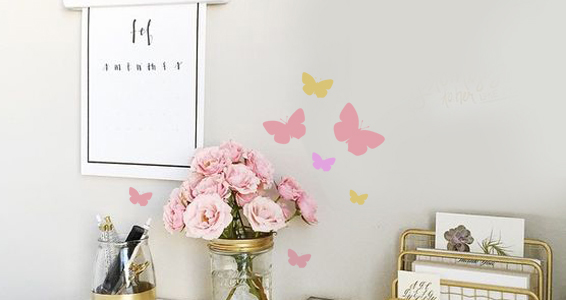sticker papillons colorés