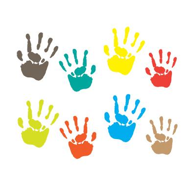 sticker empreinte de mains