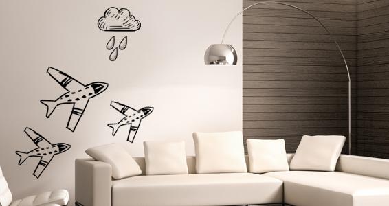 sticker avions dans les nuages