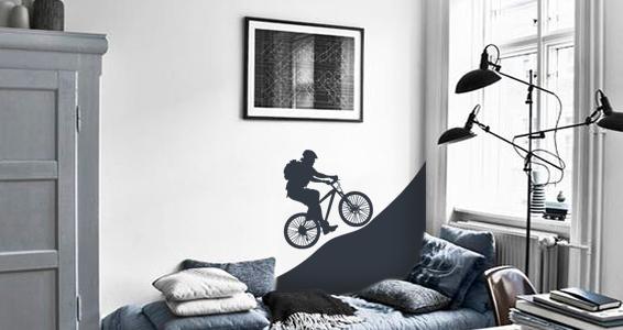 stickers muraux randonneur sticker d coration murale. Black Bedroom Furniture Sets. Home Design Ideas